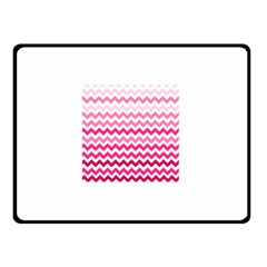 Pink Gradient Chevron Large Double Sided Fleece Blanket (small)