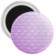 Purple Damask Gradient 3  Magnets by CraftyLittleNodes