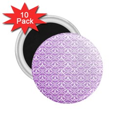 Purple Damask Gradient 2 25  Magnets (10 Pack)  by CraftyLittleNodes