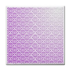 Purple Damask Gradient Face Towel by CraftyLittleNodes