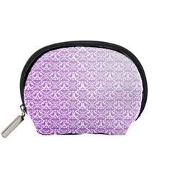 Purple Damask Gradient Accessory Pouches (small)