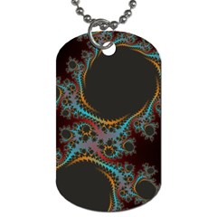 Dream In Fract Dog Tag (two Sides) by digitaldivadesigns
