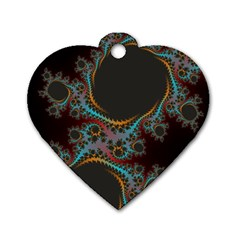 Dream In Fract Dog Tag Heart (one Side) by digitaldivadesigns