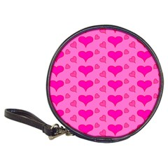 Hearts Pink Classic 20 Cd Wallets by MoreColorsinLife