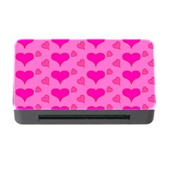 Hearts Pink Memory Card Reader With Cf by MoreColorsinLife