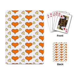 Hearts Orange Playing Card by MoreColorsinLife