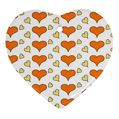 Hearts Orange Heart Ornament (2 Sides) by MoreColorsinLife