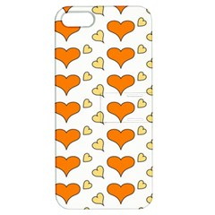 Hearts Orange Apple Iphone 5 Hardshell Case With Stand by MoreColorsinLife