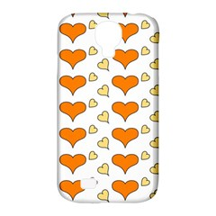 Hearts Orange Samsung Galaxy S4 Classic Hardshell Case (pc+silicone) by MoreColorsinLife