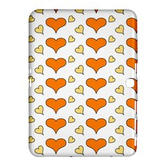 Hearts Orange Samsung Galaxy Tab 4 (10 1 ) Hardshell Case