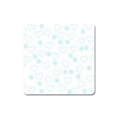 Flowers And Hearts Square Magnet by MoreColorsinLife
