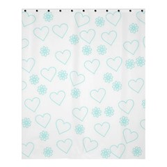Flowers And Hearts Shower Curtain 60  X 72  (medium)
