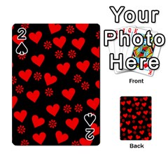 Flowers And Hearts Playing Cards 54 Designs  by MoreColorsinLife