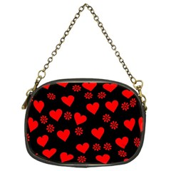 Flowers And Hearts Chain Purses (one Side)