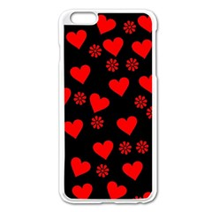 Flowers And Hearts Apple Iphone 6 Plus/6s Plus Enamel White Case