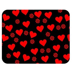 Flowers And Hearts Double Sided Flano Blanket (medium)