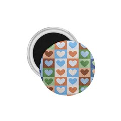 Hearts Plaid 1 75  Magnets by MoreColorsinLife