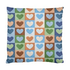 Hearts Plaid Standard Cushion Cases (two Sides)