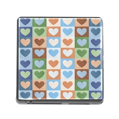 Hearts Plaid Memory Card Reader (square) by MoreColorsinLife