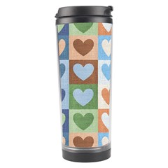 Hearts Plaid Travel Tumblers by MoreColorsinLife