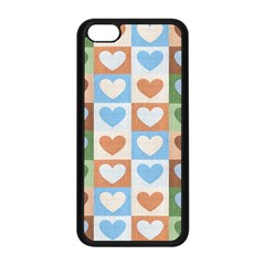 Hearts Plaid Apple Iphone 5c Seamless Case (black)