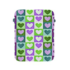 Hearts Plaid Purple Apple Ipad 2/3/4 Protective Soft Cases by MoreColorsinLife
