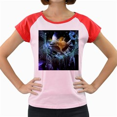 Funny Dolphin In The Universe Women s Cap Sleeve T Shirt