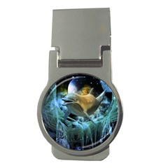 Funny Dolphin In The Universe Money Clips (round)