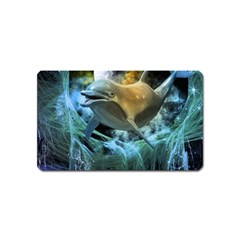Funny Dolphin In The Universe Magnet (name Card)