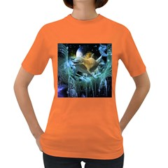 Funny Dolphin In The Universe Women s Dark T Shirt