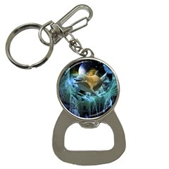 Funny Dolphin In The Universe Bottle Opener Key Chains