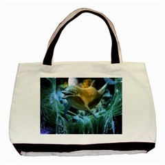 Funny Dolphin In The Universe Basic Tote Bag