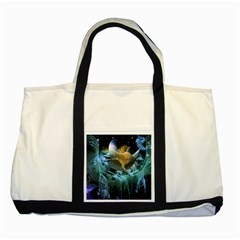Funny Dolphin In The Universe Two Tone Tote Bag