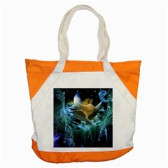 Funny Dolphin In The Universe Accent Tote Bag