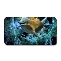 Funny Dolphin In The Universe Medium Bar Mats
