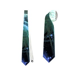 Funny Dolphin In The Universe Neckties (two Side)