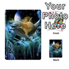 Funny Dolphin In The Universe Multi-purpose Cards (rectangle)