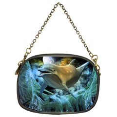 Funny Dolphin In The Universe Chain Purses (one Side)