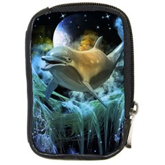 Funny Dolphin In The Universe Compact Camera Cases