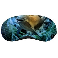 Funny Dolphin In The Universe Sleeping Masks