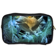 Funny Dolphin In The Universe Toiletries Bags 2-side