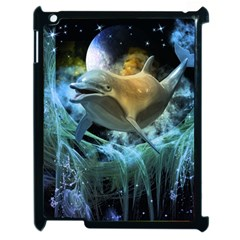 Funny Dolphin In The Universe Apple Ipad 2 Case (black)