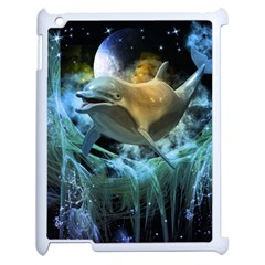 Funny Dolphin In The Universe Apple Ipad 2 Case (white)