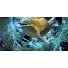 Funny Dolphin In The Universe You Are Invited 3d Greeting Card (8x4)
