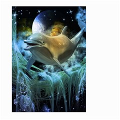 Funny Dolphin In The Universe Large Garden Flag (two Sides)