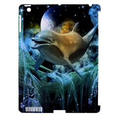 Funny Dolphin In The Universe Apple Ipad 3/4 Hardshell Case (compatible With Smart Cover)