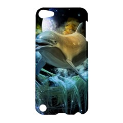 Funny Dolphin In The Universe Apple Ipod Touch 5 Hardshell Case