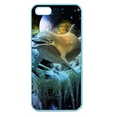 Funny Dolphin In The Universe Apple Seamless Iphone 5 Case (color)