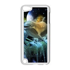 Funny Dolphin In The Universe Apple Ipod Touch 5 Case (white)