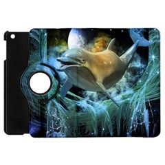 Funny Dolphin In The Universe Apple Ipad Mini Flip 360 Case